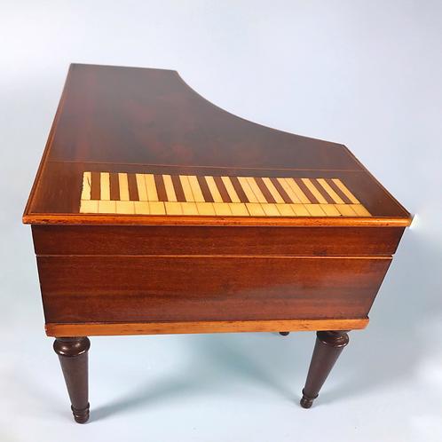 Antique  Piano Shaped Box - Palais Royal Jewellery/Sewing