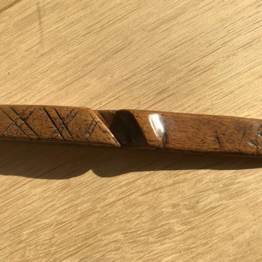 antique treen knitting sheath for sale o