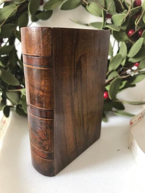 Antique Treen Small Book Box