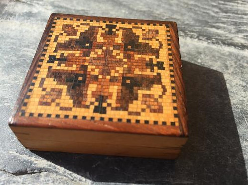 A small Tunbridge ware mosaic puzzle box