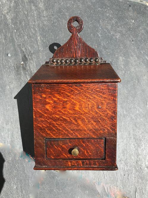 Antique oak salt box - small proportions