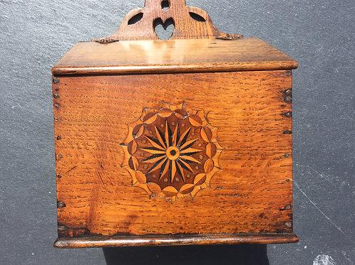 An Antique Oak Inlaid Salt Box