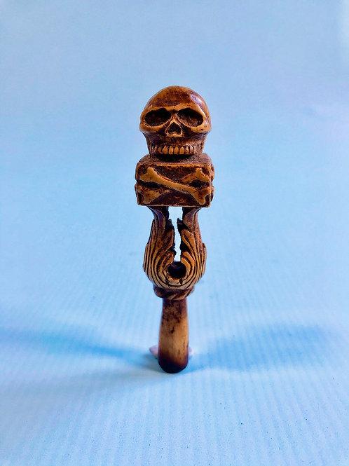 Antique Pipe Tamper - Bone - Memento Mori