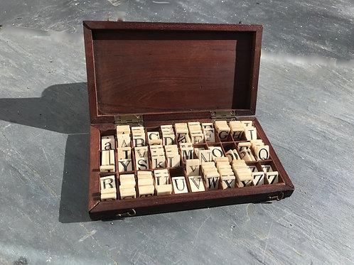 Antique Spelling Tiles