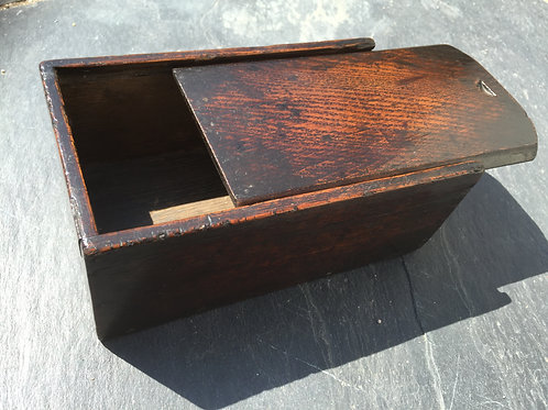 Antique  18th Century Oak Candle Box