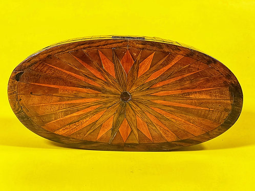 Antique Georgian Oval Parquetry Box
