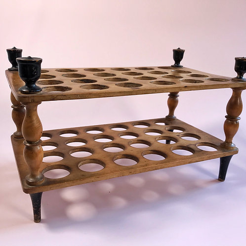 An Antique Egg Rack - to hold 48 eggs
