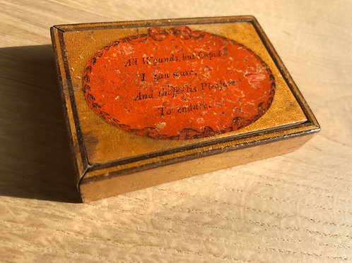 Antique Box with Mirror - Motto to Lid
