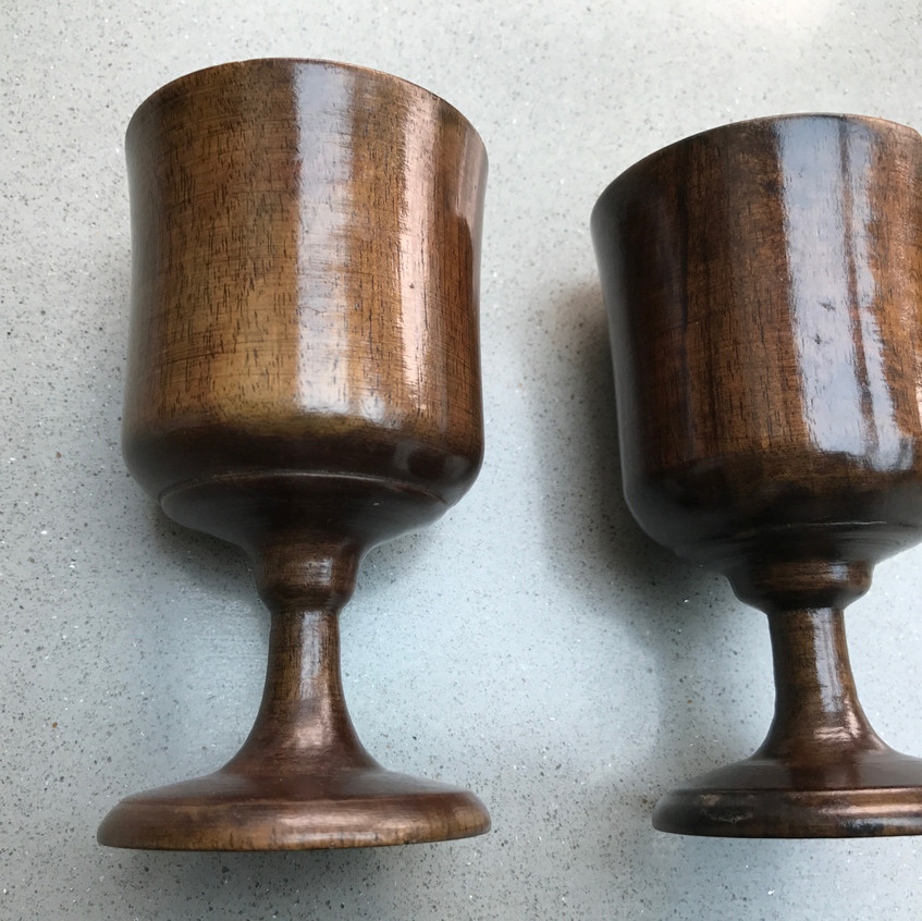 Antique treen goblet
