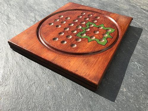 An Unusual Folding Mahogany Games Board