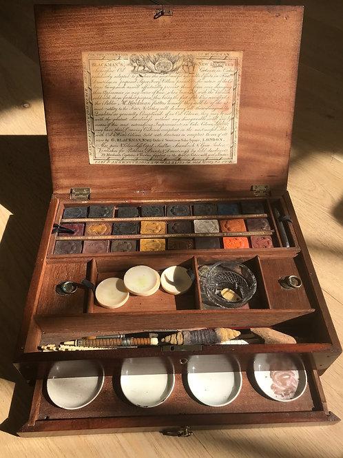 Antique Artist's Box - plenty of contents
