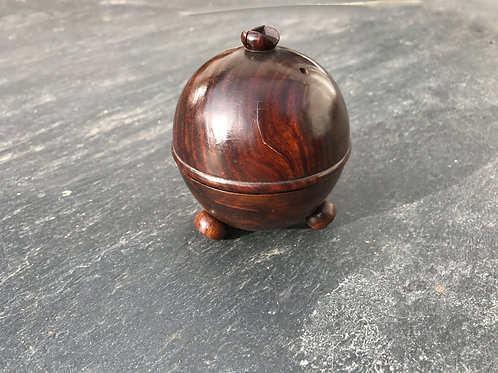Antique Spherical String Box - with cutter