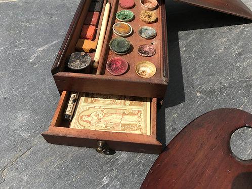 Antique Paint Box and Palette