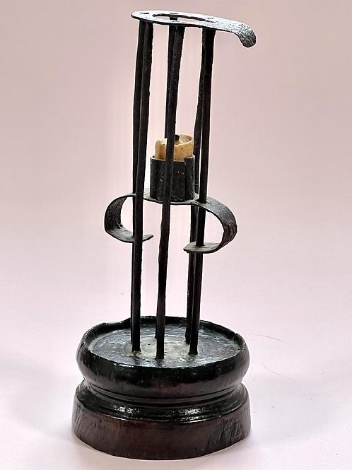 Antique Birdcage/Stable Candlestick