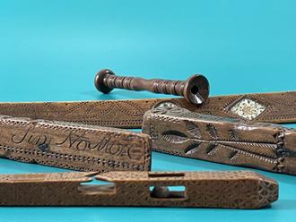 18th Century Treen Knitting Sheaths & Sticks