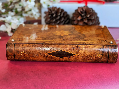 Antique Jewellery Book Box - Large size