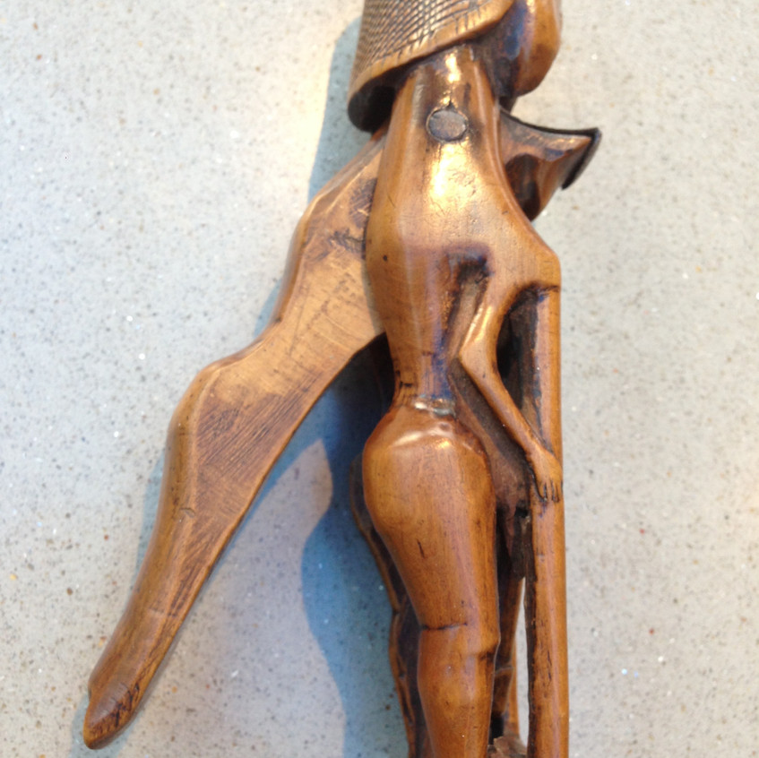 antique boxwood nutcracker