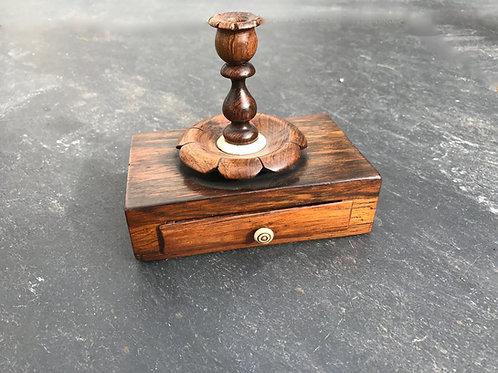 Antique Taper Candle Holder / Desk Seal