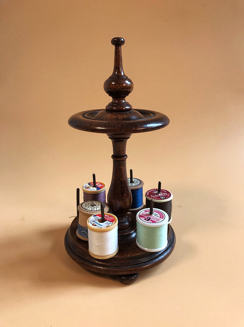An Antique Cotton Reel Stand