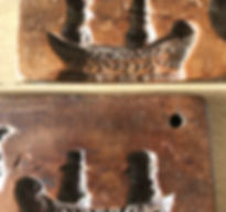 antique treen confectionery mould for sa