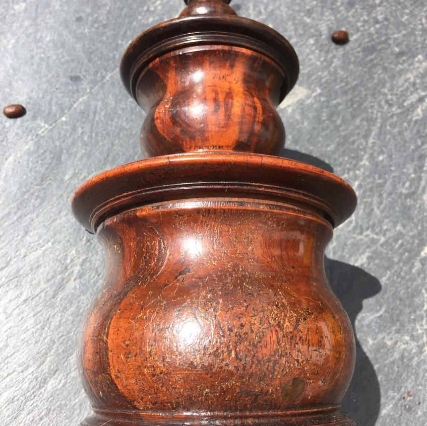 Antique Lignum Vitae Coffee Grinder