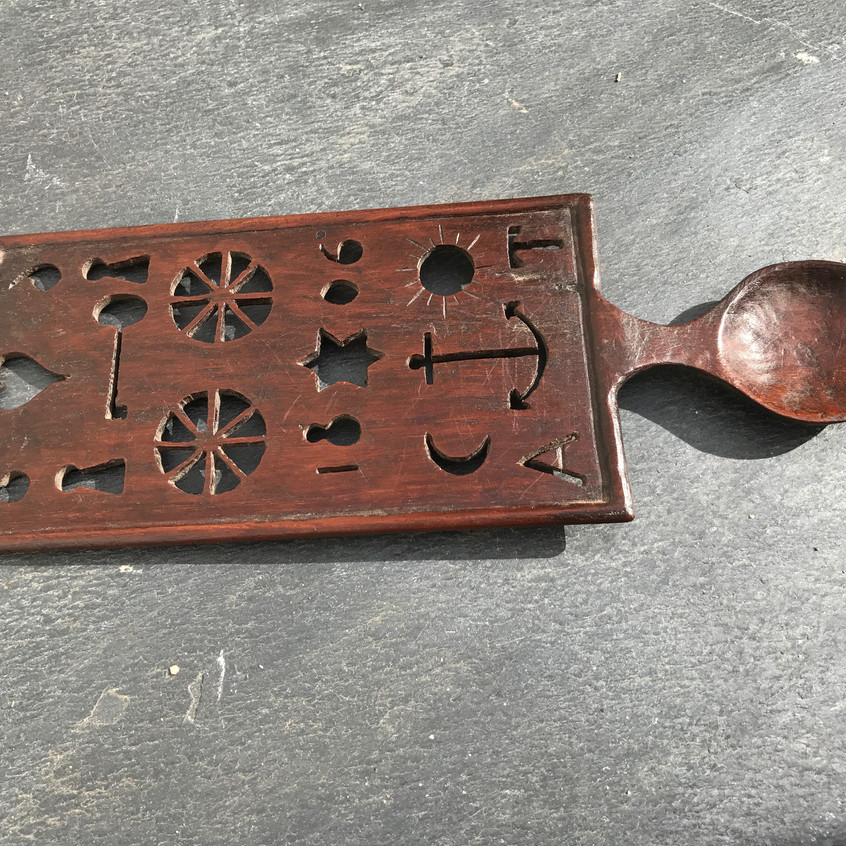 Antique Welsh love spoon, to buy, Opus Antiques UK6