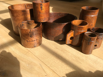Antique Treen Measures