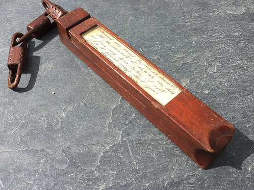 An Antique Treen Knitting Sheath With Verse