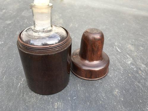 Antique Laburnum Bottle Holder -Stamped
