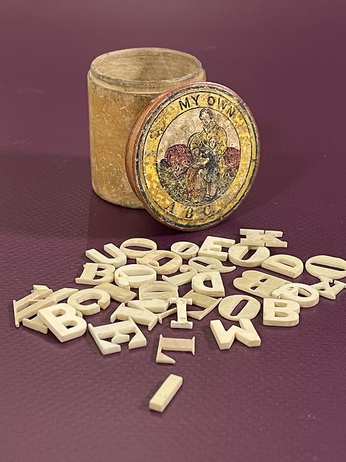 Antique Alphabet Pot & Letters