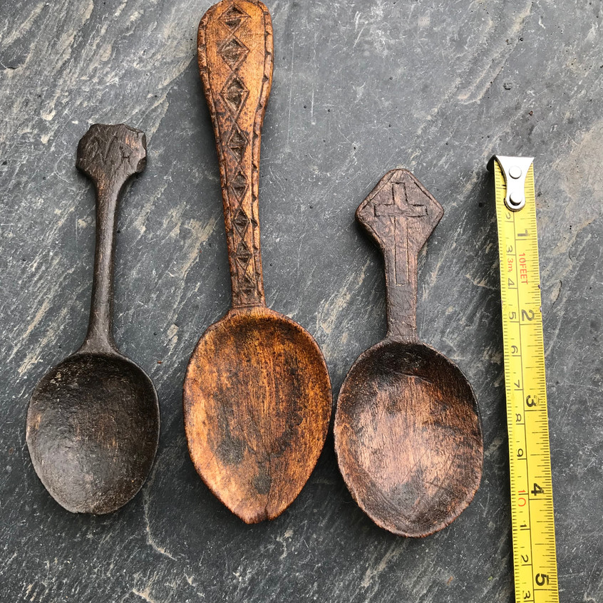 Antique treen spoons for sale, Opus antiques UK3