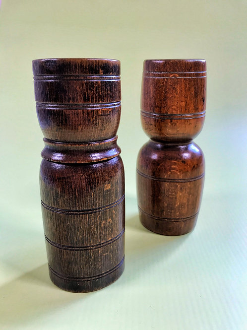 Two Antique Treen Double Measures - can be bought separately