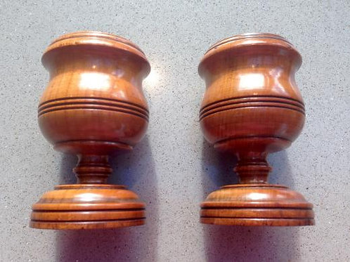 Antique Treen Pair of Salts