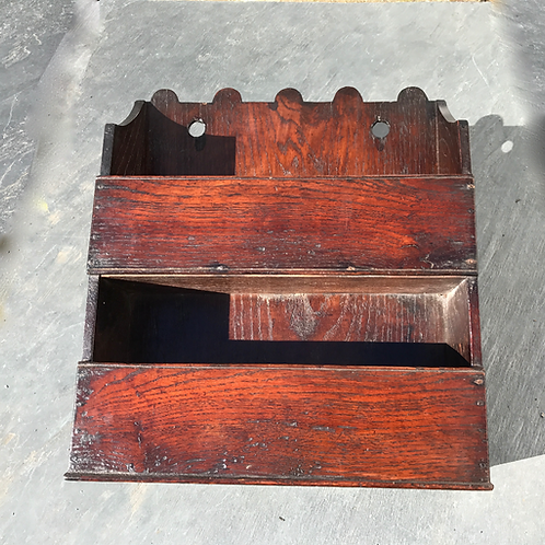 Antique Oak Candle and Salt Box