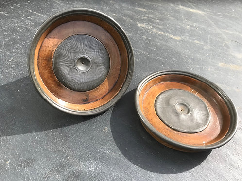 An Unusual Pair of Antique Treen Wine Coasters