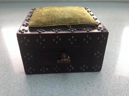 An Antique  Pin Cushion Box