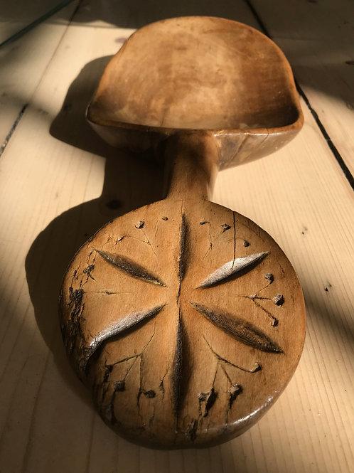 Antique Treen Welsh Butter Spade