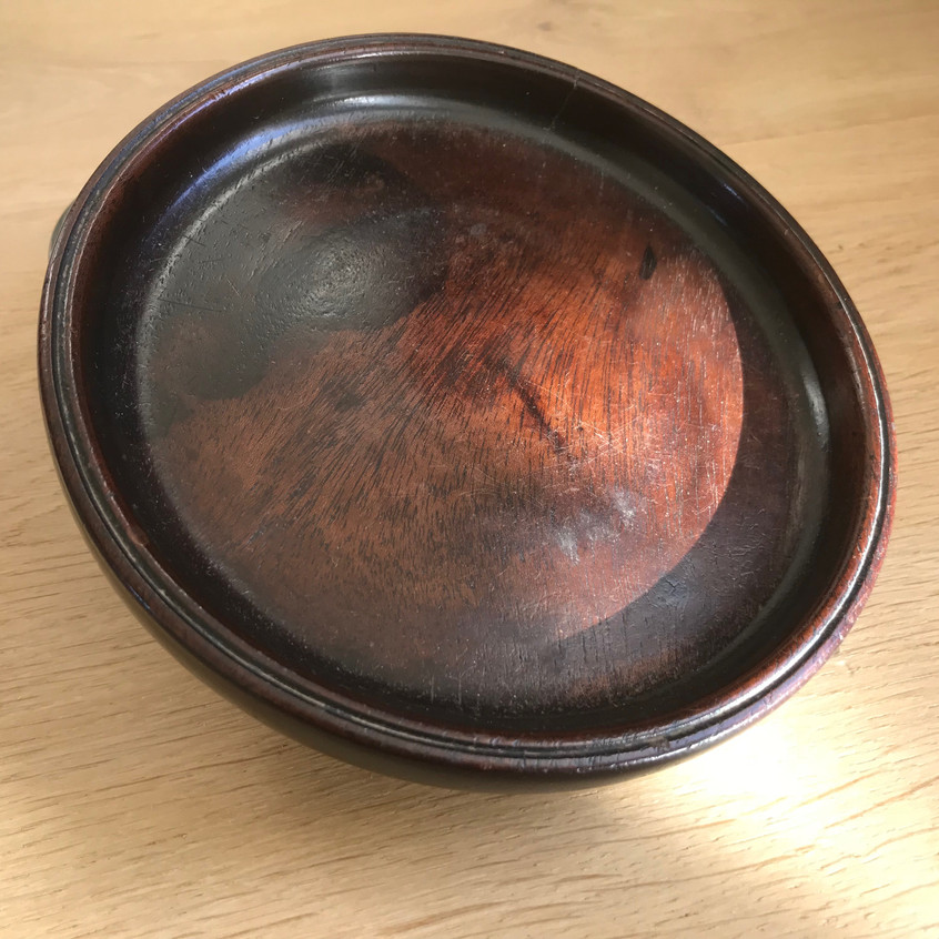 antique treen wine coaster for sale opus
