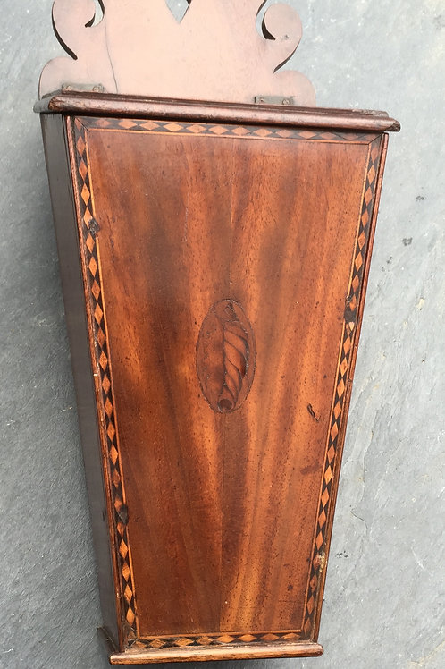Antique Candle Box - Mahogany