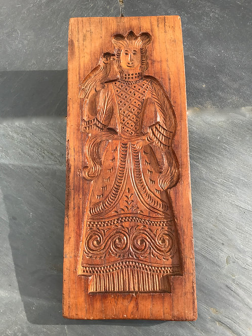 Antique treen double sided Gingerbread Mould