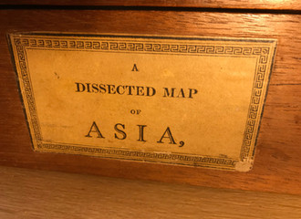 Antique Dissected Puzzle of Asia