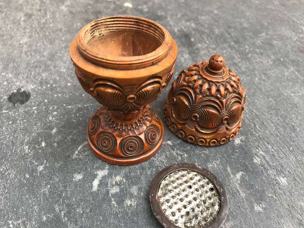 Antique treen nutmeg grater,for sale, Opus Antiques, Devon UK