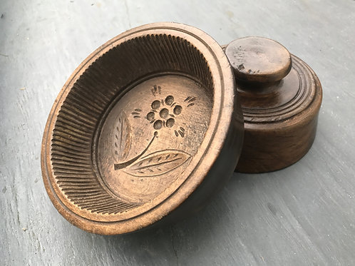 Antique  Sycamore Treen Flummery Moulds