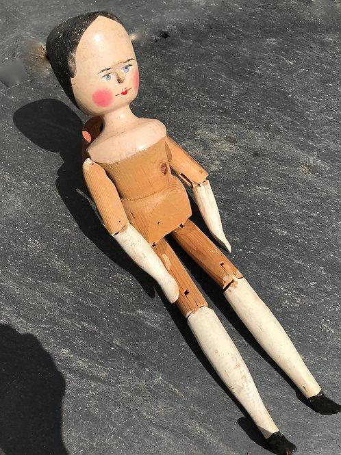 Antique Grodnertal Doll - Large Size