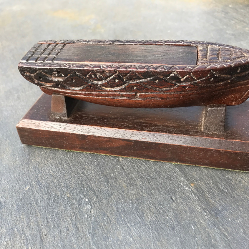 Antique Snuff Boat box, Opus Antiques, Devon UK