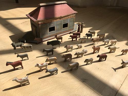 A Small Antique Noah's Ark