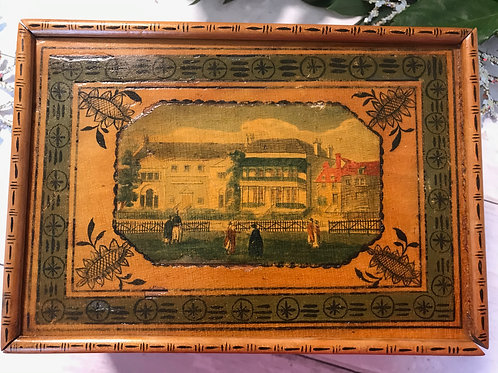 A Rare Early Sewing Box - Label Lady Ann Murrays & Mrs Fitxherberts