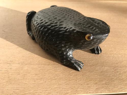 Antique Toad Snuff Box