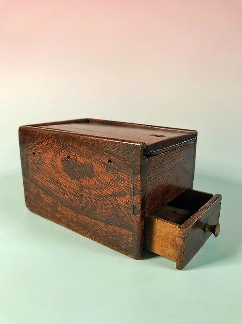Antique Oak Reel & Sewing Box