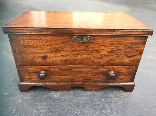 An Antique Mini Oak Coffer
